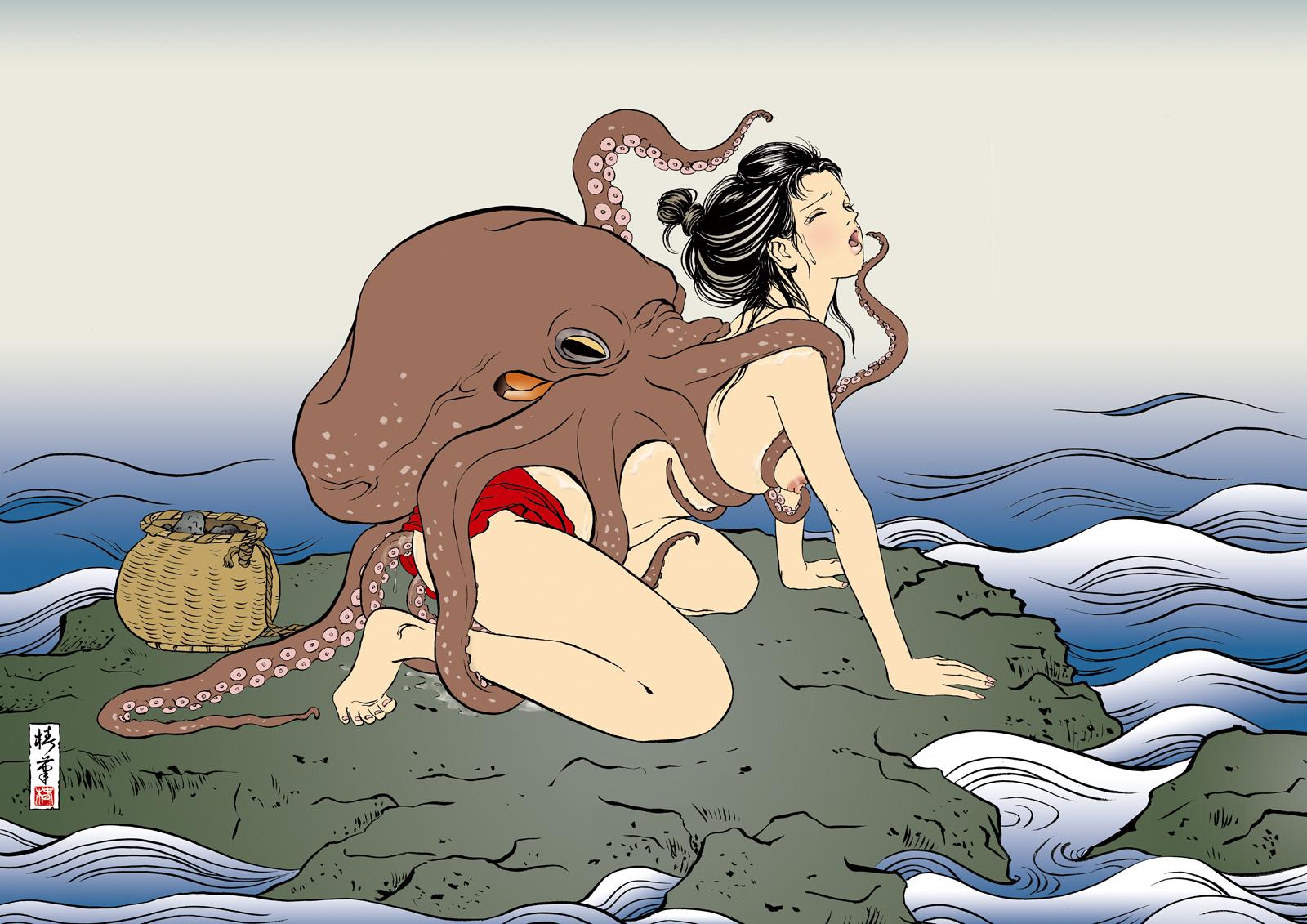 прно с осьминогами